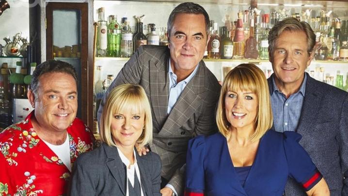 Pete (John Thomson), Karen (Hermione Norris), Adam (James Nesbitt), David (Robert Bathurst) and Jenny (Fay Ripley) (Credit: ITV)