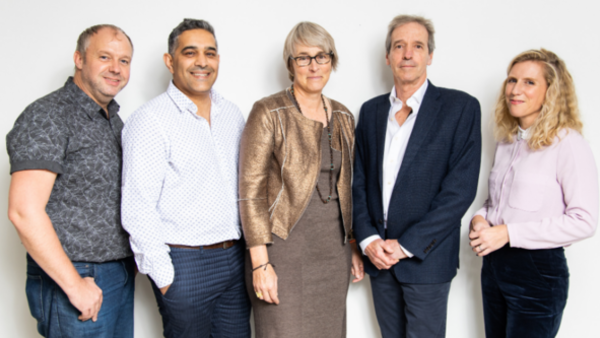 Greg Barnett, Saj Nazir, Kate Bulkley, Simon Wells and Emily Hudd (Credit: Paul Hampartsoumian)