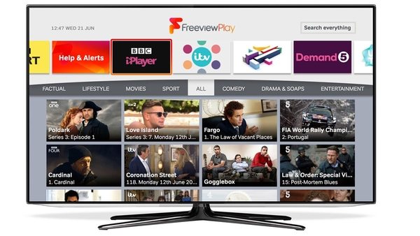 Freeview EPG (credit: Freeview)