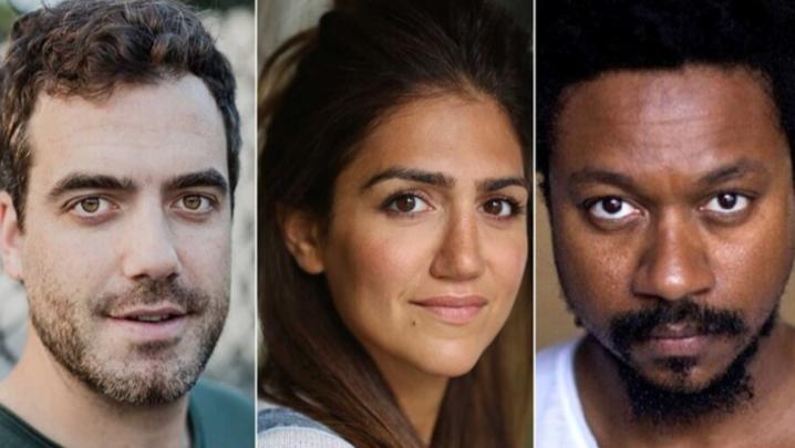 Daniel Ings, Leila Farzad and Nathaniel Martello-White (Credit: Sky)