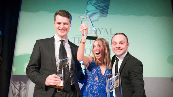 ITV Winners (left to right) Daniel Skipp, Jessica Savage and Kenny Fillingham