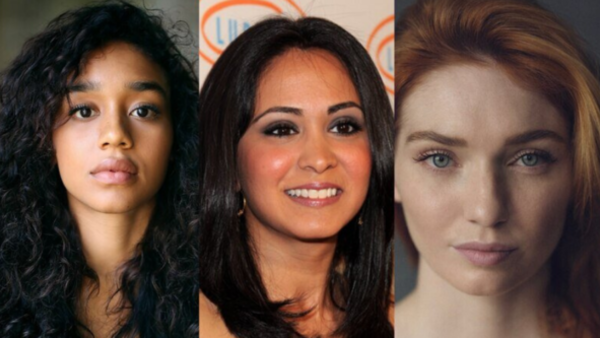 Savannah Steyn, Parminder Nagra and Eleanor Tomlinson (Credit: Sky)