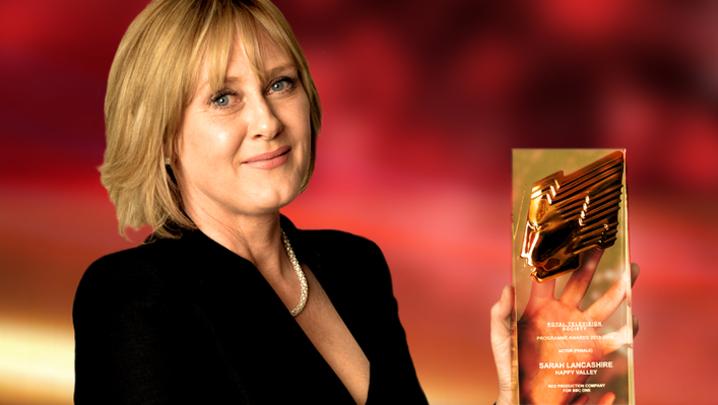 Sarah Lancashire RTS Programme Awards 2013-14