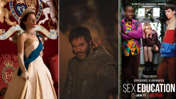 The Crown, Outlaw King, LA's Finest (Credit: Netflix)