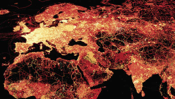 The frequency of OpenStreetMap updates can be used as a proxy for the density of internet services (Credit: The University of Oxford)