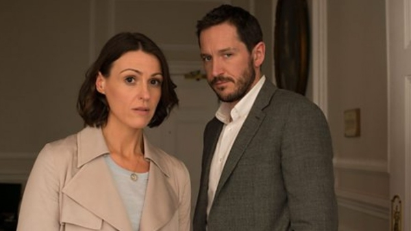 Dr. Gemma Foster (Suranne Jones) and Simon (Bertie Carvel) in Doctor Foster (Credit: BBC)