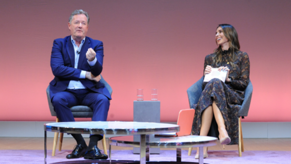 Piers Morgan and Christine Lampard (Credit: RTS/Richard Kendal)