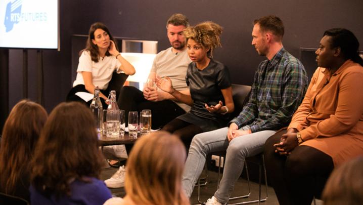 The reality TV panel, L-R: Laura Jackson, Craig Orr, Becky Crosthwaite, Philip McCreery and Coco Jackson (Credit: Paul Hampartsoumian)