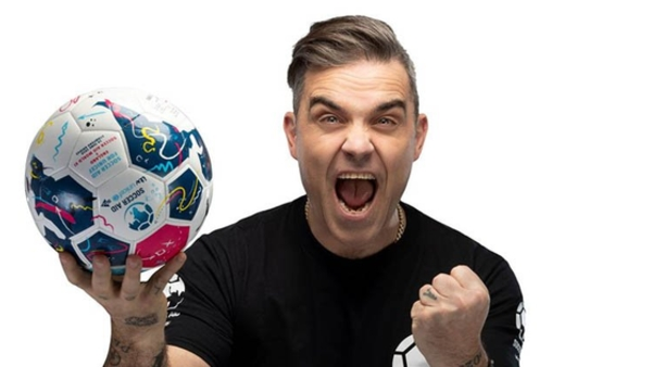 Soccer Aid co-founder Robbie Williams (Credit: ITV)
