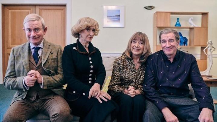 Harry Enfield, Haydn Gwynne, Julia Deakin and Simon Day (Credit: Channel 4)