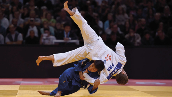 The International Judo Federation Paris Grand Slam was broadcast by French channel L'Equipe 21 (Credit: L'Equipe 21)