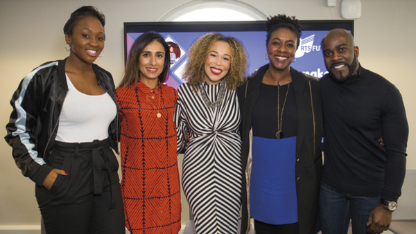 Panellists Remel London, Anita Rani, Ria Hebden, Marverine Cole and Melvin Odoom (Credit: RTS/Paul Hampartsoumian)