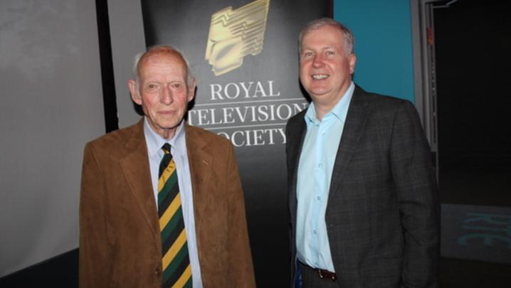 Godfrey Graham and Alan Esslemont at the RTS ROI Student Awards (Credit: Charles Byrne)
