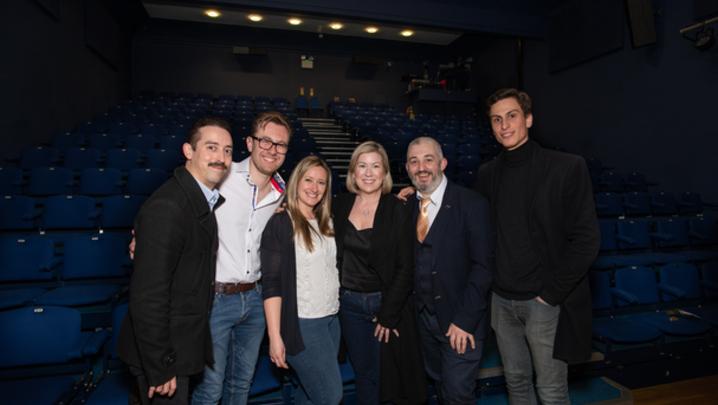 Marc Pickering, Marco Petrucco, Samantha Seivwright, Lian Sherriff (RTS IoM Board). Steve Babb (RTS IoM Vice Chair), Niccolo Besio (Credit: Louise Platt)