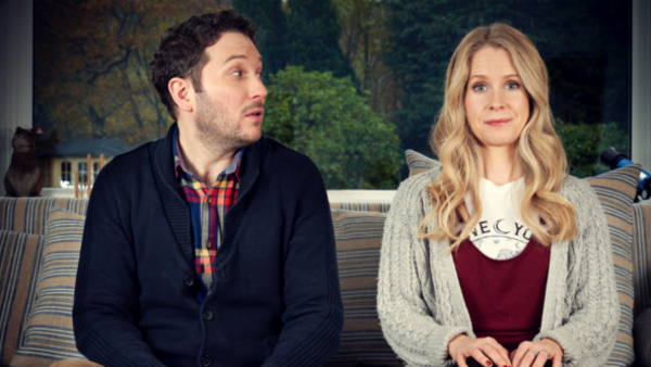 Jon Richardson and Lucy Beaumont (credit: UKTV)