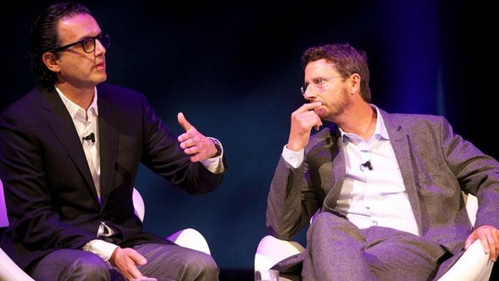 David Abraham and Nick Southgate (Credit: Paul Hampartsoumian)