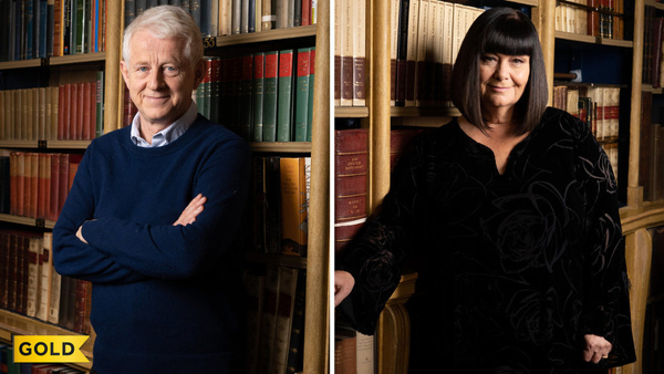 Richard Curtis and Dawn French (Credit: UKTV)