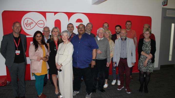 RTS Republic of Ireland members at Virgin Media Television Studios in Dublin