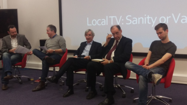 Yorkshire Centre Chair Mike Best (centre) hosts the debate on Local TV: Sanity of Vanity?