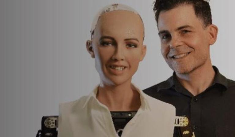 David Hanson and Sophia robot twoshot - copyright IBC
