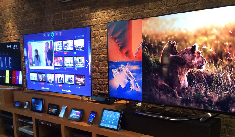 Screens of varying sizes at iBurbia
