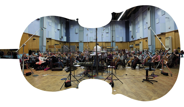 Royal Philharmonic Orchestra recording at Abbey Road Studios (Credit: Abbey Road Studios)