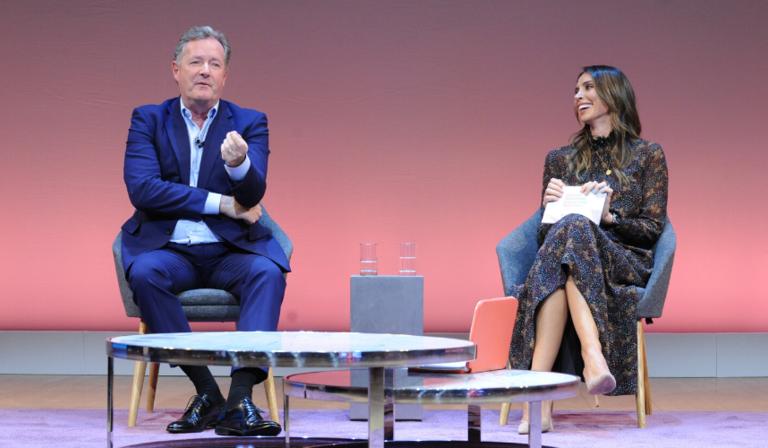 Piers Morgan and Christine Lampard (Credit: RTS/Richard Kendal)
