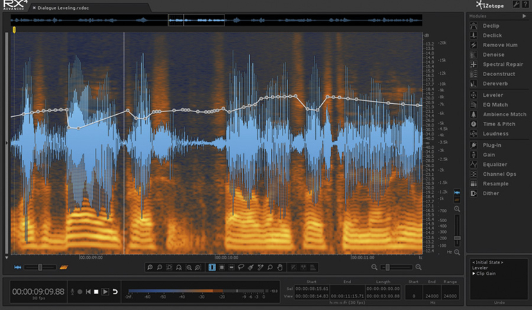 Audio post-production software from iZotope