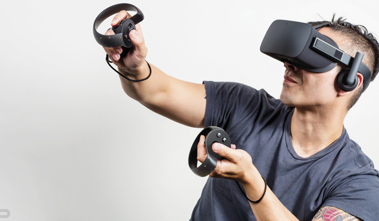 Oculus Rift headset and Oculus Touch controllers (Credit: Oculus VR)