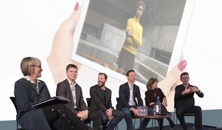 From left: Kate Bulkley, John Litster, Matt Hill, Rich Astley, Sarah Rose and Justin Sampson. Inset: The Little Drummer Girl (Credit: Paul Hampartsoumian/Shutterstock/BBC)
