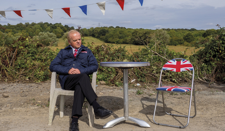 Barry Green (Toby Jones) in Don't Forget the Driver (Credit: BBC Two)