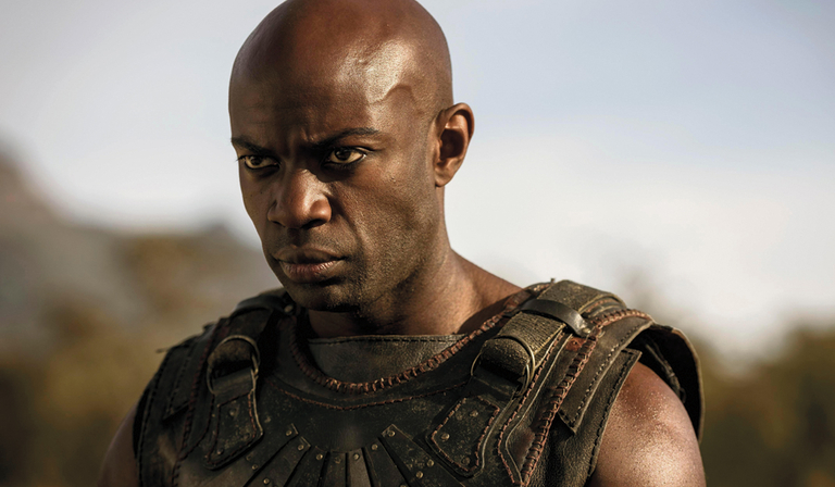 David Gyasi as Achilles in Troy: Fall of a City (Credit: BBC)