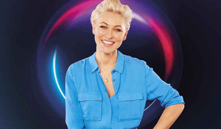 Emma Willis in The Circle (Credit: Richard Kendal/ Channel 4)