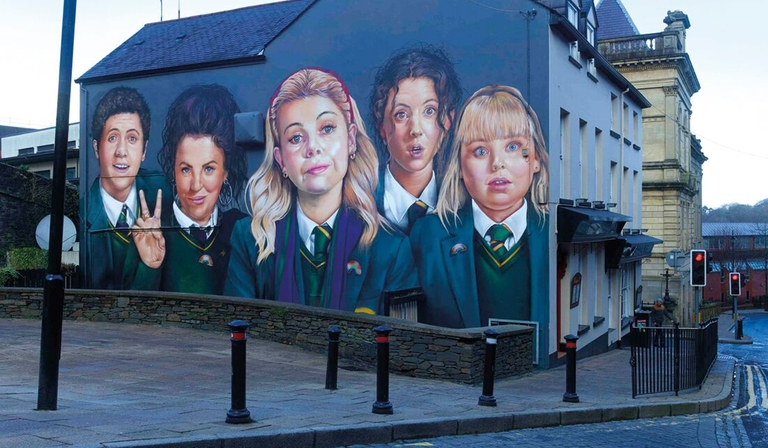 Derry Girls Mural (Credit: Channel 4)