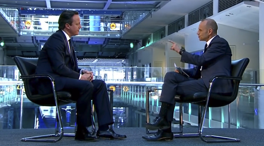 Evan Davis interviews David Cameron